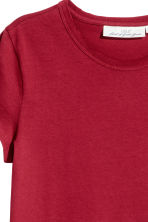 T-shirt in jersey - Rosso scuro - DONNA | H&M IT 3