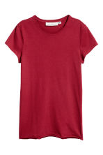 T-shirt in jersey - Rosso scuro - DONNA | H&M IT 2