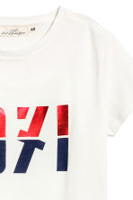 T-shirt in jersey - Bianco - DONNA | H&M IT 3