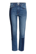 Slim Regular Patchwork Jeans - Azul denim escuro -  | H&M PT 2