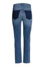 Slim Regular Patchwork Jeans - Azul denim escuro -  | H&M PT 3