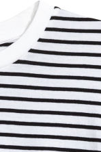 Oversized long-sleeved T-shirt - White/Black striped - Men | H&M 3