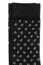 Jacquard-knit socks - Black/Patterned - Men | H&M 2