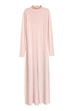 Turtleneck maxi dress - Powder pink - Ladies | H&M 2