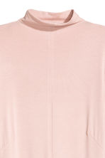 Turtleneck maxi dress - Powder pink - Ladies | H&M 3