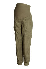 MAMA Lyocell cargo trousers - Khaki green - Ladies | H&M CN 2