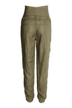 MAMA Lyocell cargo trousers - Khaki green - Ladies | H&M CN 3