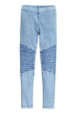 Biker leggings - Light denim blue -  | H&M CN 2
