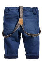 Twill trousers with braces - Dark blue - Kids | H&M CN 2