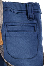 Twill trousers with braces - Dark blue - Kids | H&M CN 3