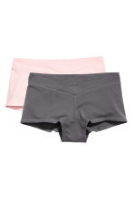 MAMA 2-pack shorts - Light pink/Dark grey - Ladies | H&M 2