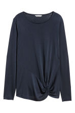 Top in jersey maniche lunghe - Blu scuro -  | H&M IT 2