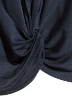 Long-sleeved jersey top - Dark blue -  | H&M CN 3