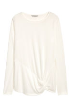 Long-sleeved jersey top - Natural white - Ladies | H&M 2