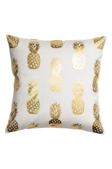 Pineapple-print cushion cover