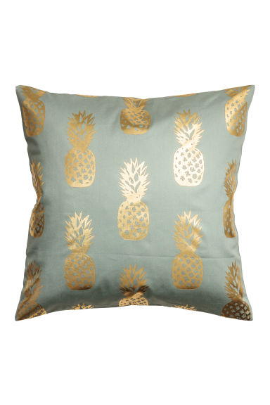 Copricuscino con ananas - Verde nebbia - HOME | H&M IT 1