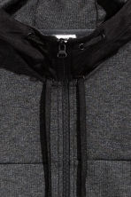 Hooded sports jacket - Dark grey marl - Men | H&M 4