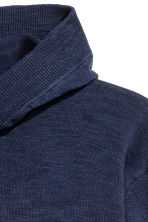 Fine-knit hooded jumper - Dark blue - Men | H&M 2