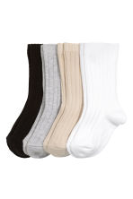 4-pack socks in a box - Black - Kids | H&M 3