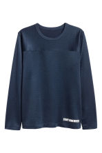 Sports top - Dark blue - Men | H&M CA 2