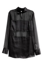 Chiffon blouse - Black - Ladies | H&M 2