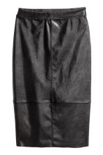 Imitation leather skirt - Black - Ladies | H&M 2