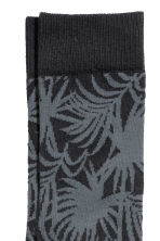 Jacquard-knit socks - Dark grey/Patterned - Men | H&M 2