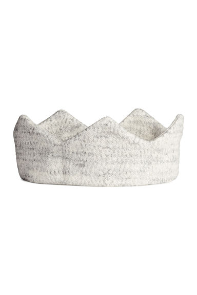Fine-knit hairband - Light grey marl -  | H&M 1