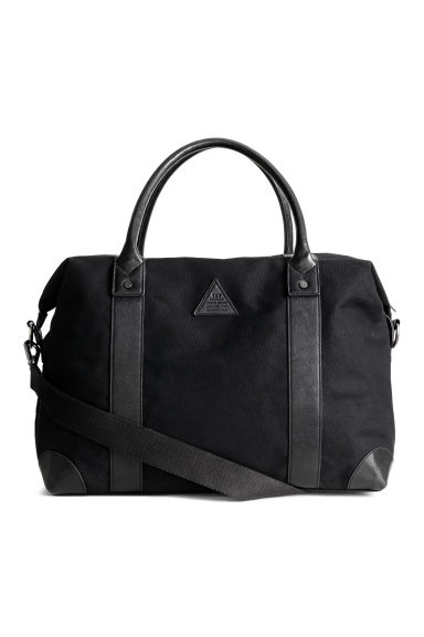 Sac week-end en toile - Noir -  | H&M BE