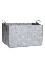Felt storage basket - Grey marl - Home All | H&M CN 2