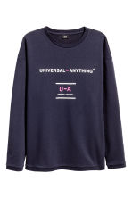 Wide sweatshirt - Dark blue - Men | H&M CN 2