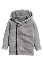 Hooded sweatshirt cardigan - Grey washed out -  | H&M 2