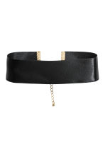 Satin choker - Black - Ladies | H&M 1