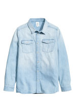 Denim shirt - Light denim blue -  | H&M CN 2