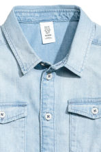Denim shirt - Light denim blue -  | H&M CN 3