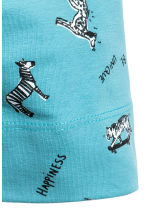 Patterned jersey hat - Turquoise/Animal - Kids | H&M CN 2