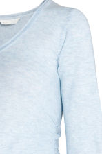 MAMA Fine-knit jumper - Light blue marl - Ladies | H&M 3
