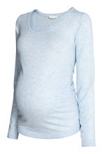 MAMA Fine-knit jumper - Light blue marl - Ladies | H&M 2