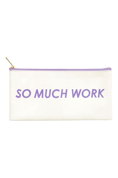 Pencil case - White - Ladies | H&M CN 1