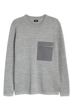 Fine-knit cotton jumper - Grey marl - Men | H&M 2
