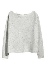 Fine-knit jumper - Light grey marl - Ladies | H&M CN 2
