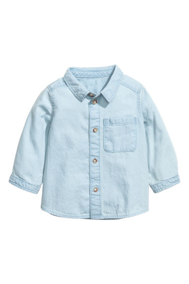 Washed denim shirt - Light denim blue - Kids | H&M CN 1