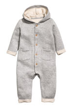 Sweatshirt all-in-one suit - Grey marl - Kids | H&M 1