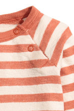 Cotton top - Dark orange/Striped -  | H&M 2