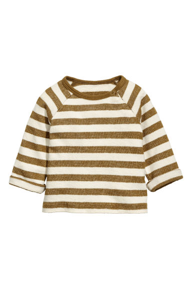 Cotton top - Brown/Striped -  | H&M CA 1