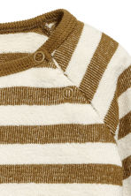 Cotton top - Brown/Striped -  | H&M CA 2