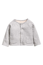 Reversible jersey cardigan - Grey marl - Kids | H&M CN 1