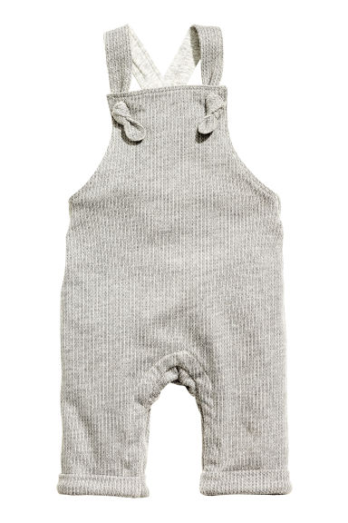 Jersey-lined dungarees - Grey - Kids | H&M 1