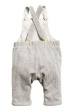 Jersey-lined dungarees - Grey - Kids | H&M 2