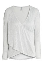 Wrapover jumper - Light grey - Ladies | H&M 2